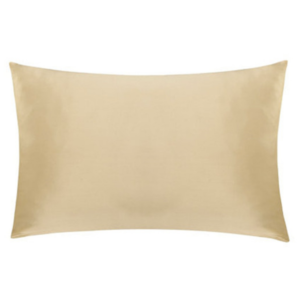 gold silk pillowcase